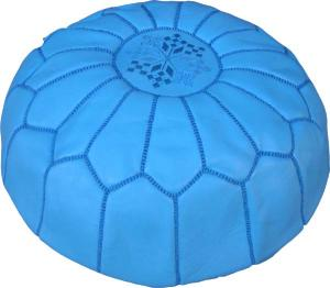 Tazi Designs : Pouf / Leather Ottoman :   :  cushion leather furniture ottoman