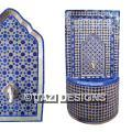 MOROCCAN FOUNTAIN - BLUE AND BEIGE