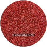 ROUND PATIO TABLE - RED TILE (42