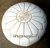 WHITE POUF WITH GOLD 20