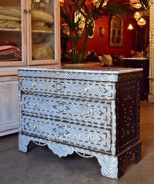 Syrian Bone Inlaid Dresser 55 Moroccan Furniture Moroccan