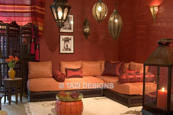 The Nook - Moroccan Living Room : Moroccan Upholstery : Sofas and ...