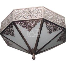 Mediterranean Ceiling Fixture – Silver Light