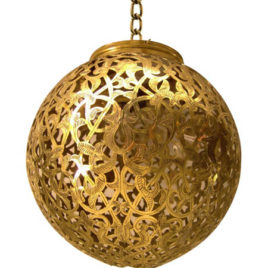Moorish Lamp – Sphere Light 12 Gold