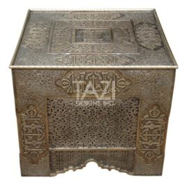 Moroccan Side Table – Brass 0019