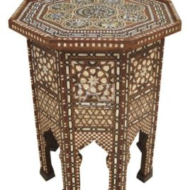 Mother-of-Pearl Side Table – Luxury