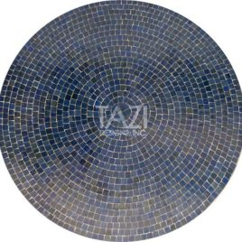 Round Blue Moroccan Mosaic Table 48