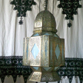 Moorish lantern in Frosted Glass