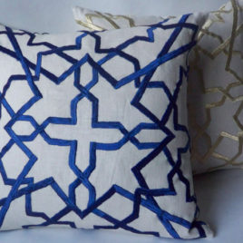 Royal blue moroccan pillow 20