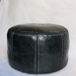 Charcoal Black Pouf 26×16