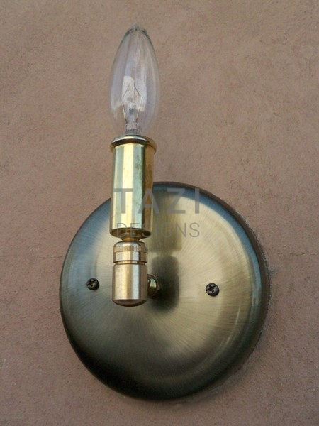 Wall Sconce Lamp Kit : Wall Light Kit For Sconce One Bulb Tazi Designs