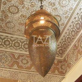 Moroccan Large Brass Chandelier – Hassan