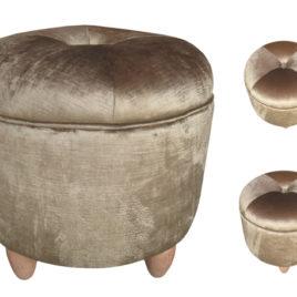 Upholstered Ottoman Stool