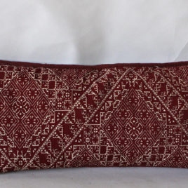 Moroccan Pillow – Red and Beige
