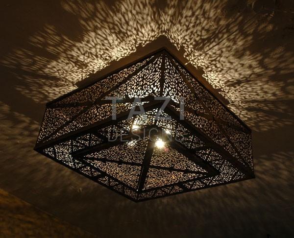 Moroccan Pierced Ceiling Light 27 Tazi Designs