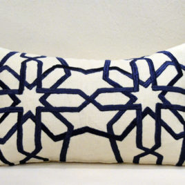 Moroccan Royal Blue Pillow 20×13
