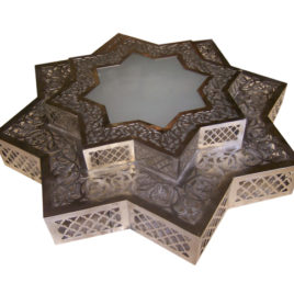 Ceiling Fixture – Moroccan Star Lamp (Silver)