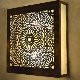 Arabesque Square Moroccan Sconce
