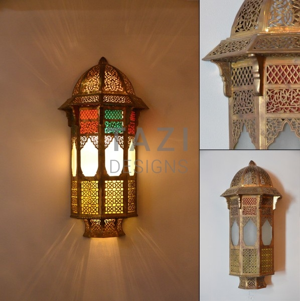 Moroccan Wall Sconces Lighting : Vintage Moroccan Wall Sconce 001 Tazi Designs