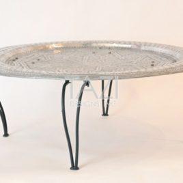 Moroccan Silver Tray Table