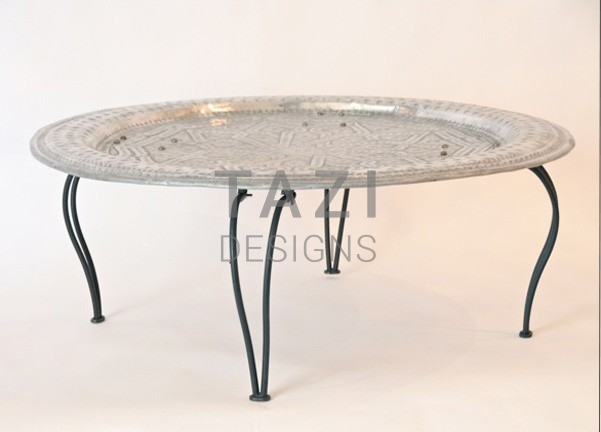 Wonderful Moroccan Silver Tray Table