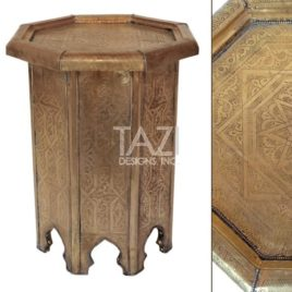 Modern Embossed Metal Side Table