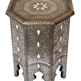 Moroccan Pierced Metal Table