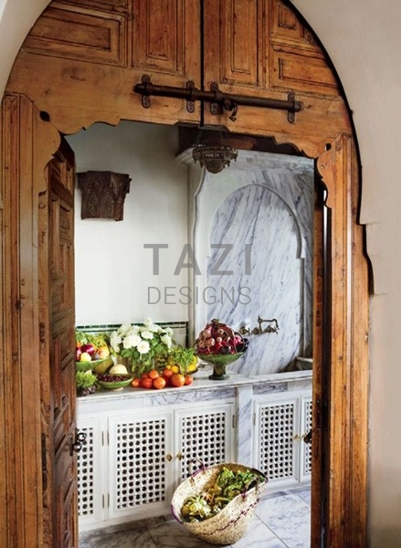 Moroccan Door Kitchen Design Tazi Designs