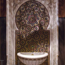 Moroccan Mosaic Fountain at Royal Mansour Hotel