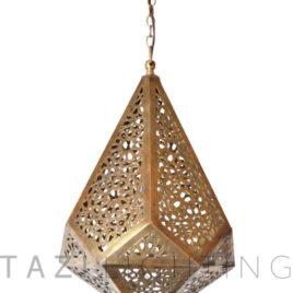 Geometric Moroccan Pendant, Long – Liza