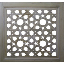 Carved Square Lattice Panel