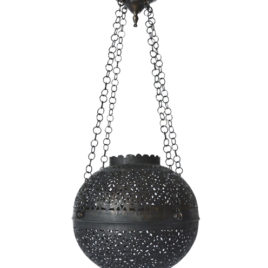 Contemporary Moroccan Hanging Light, Dark Bronze