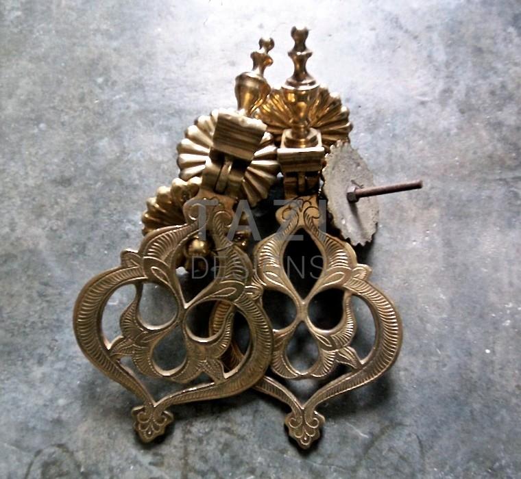 Moroccan brass door knockers tazi designs