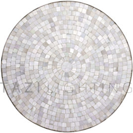 Bistro White Moroccan Mosaic Table in 30″ Diameter