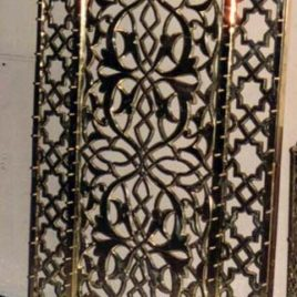 Custom Brass Grill Door