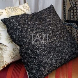 Moroccan Pillow – 26sqr Noir