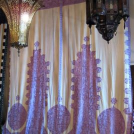 Moroccan Embroidered Curtain and Bed Spread