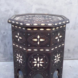 Moroccan Bone Inlay Side Table