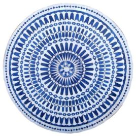 White & Blue Mosaic table 48