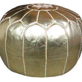 Gold pouf 20