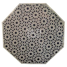 Octagonal Moroccan Mosaic Table in Moorish Design