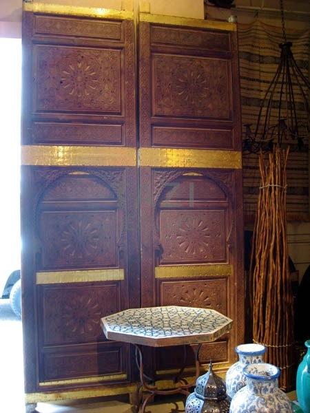 Moroccan Carved Door – Double Entry