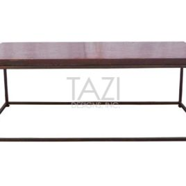 Moroccan mosaic coffee table – Red tile with base