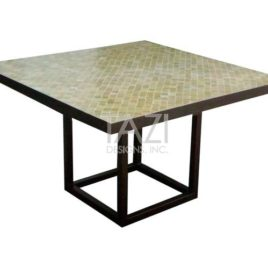 Square Mosaic Table – 48″ Table in Olive Beige 2