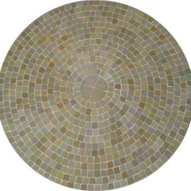 Mosaic Table in Olive Beige Tile 30″ Diameter