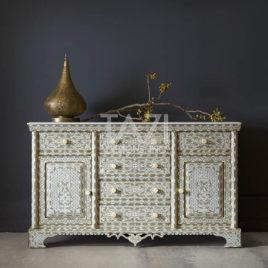 Syrian Wood-Inlay Cabinet