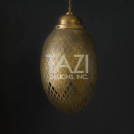 Hanging Egg-Shaped Moroccan Light