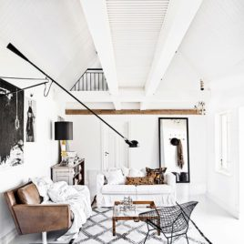 All White Space and Moroccan Rug Design