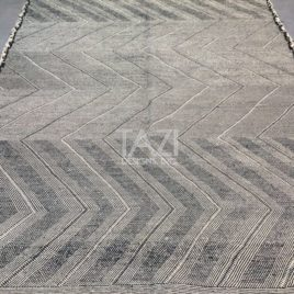Hand-Knotted Zigzag Moroccan Rug