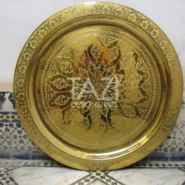 Moroccan Handcrafted Solid Brass Tray